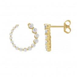 LAST ONE! 7/8 CTW  Diamond Front-Back Earrings