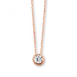 14 Kt Rose Gold Diamond Necklace