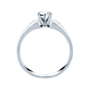 Me180-14k White Gold Classic Semi Mount Engagement Ring