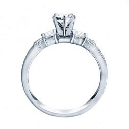 Me244-14k White Gold Classic Semi Mount Engagement Ring