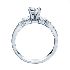 Me244-14k White Gold Classic Semi Mount Engagement Ring