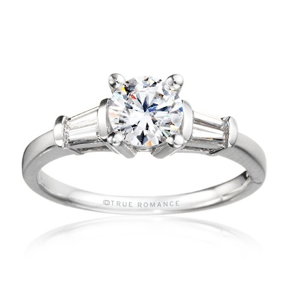 Me810-14k White Gold Semi Mount Engagement Ring From Nostalgic Collection
