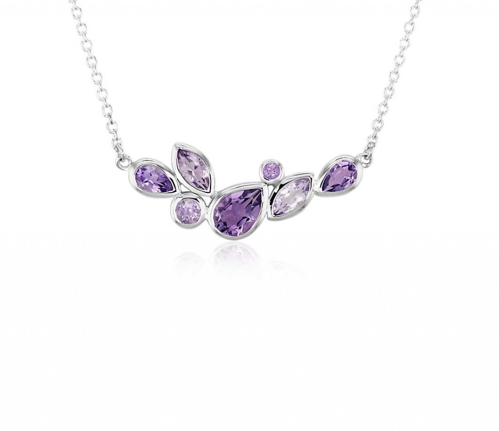 Mixed Shape Amethyst Necklace