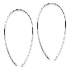 Sterling Silver Rhodium-Plated Threader Earrings