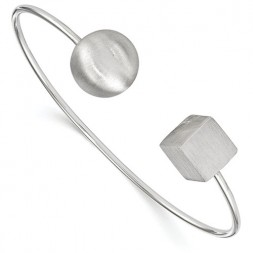Essence Satin Bangle (Ball & Cube)