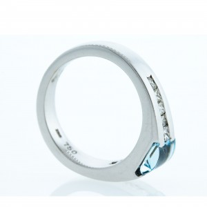 Blue Topaz and Diamond Ring (.50ctw)