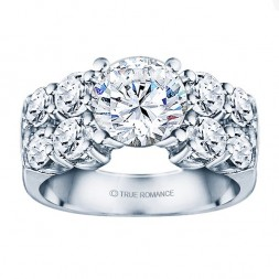 Rm1053-14k White Gold Classic Semi Mount Engagement Ring