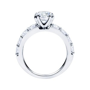 Rm1101-14k White Gold Classic Semi Mount Engagement Ring