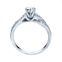 Rm1145-14k White Gold Infinity Semi Mount Engagement Ring