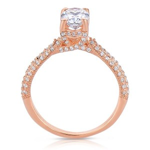 Rm1280vrs-14k Rose Gold Oval Cut Diamond Engagement Ring