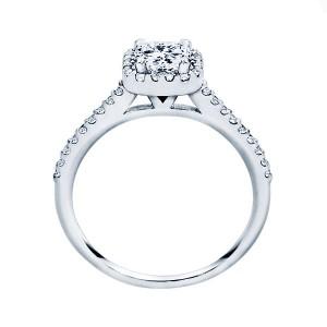 Rm1301p-14k White Gold Princess Cut Halo Diamond Semi Mount Engagement Ring