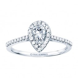 Rm1301ps-14k White Gold Halo Engagement Ring