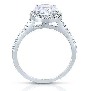 Rm1301r-14k White Gold Round Cut Halo Diamond Semi Mount Engagement Ring