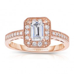 Rm1318ers-14k Rose Gold Semi Mount Engagement Ring From The Pink About It Collection