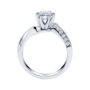 Rm1349-14k White Gold Classic Semi Mount Engagement Ring