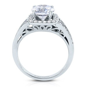 Rm1374x-14k White Gold Round Cut Halo Diamond Engagement Ring