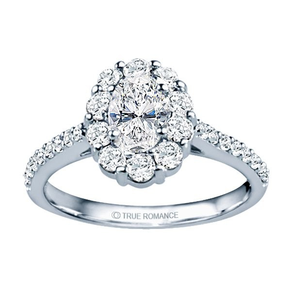 Rm1381v-14k White Gold Oval Cut Halo Diamond Semi Mount Engagement Ring