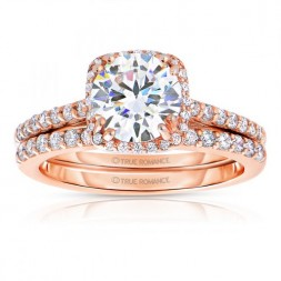 Rm1387-14k White Gold Round Cut Halo Diamond Semi Mount Engagement Ring
