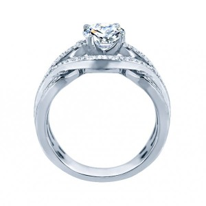 Rm1413-14k White Gold Infinity Semi Mount Engagement Ring