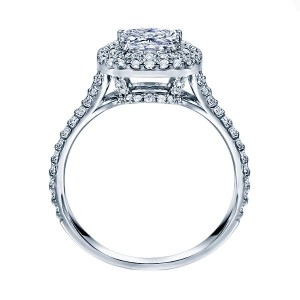 Rm1417cu-14k White Gold Halo Engagement Ring