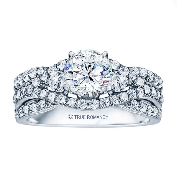 Rm1431-14k White Gold Infinity Semi Mount Engagement Ring