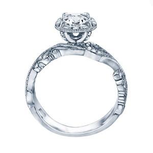 Rm1432-14k White Gold Vintage Semi Mount Engagement Ring