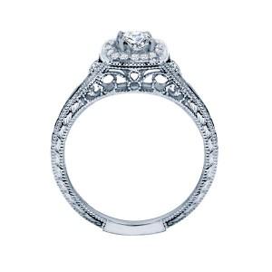 Rm1435-14k White Gold Vintage Semi Mount Engagement Ring