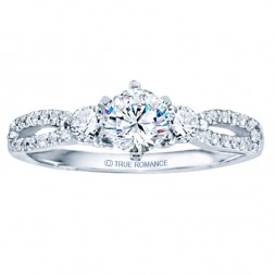 Rm1443-14k White Gold Infinity Semi Mount Engagement Ring