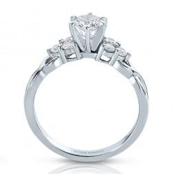 Rm1450 -14k White Gold Round Cut Diamond Infinity Semi Mount Engagement Ring