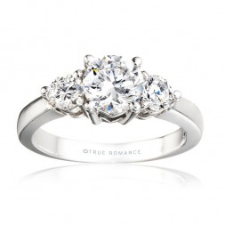 Rm240-14k White Gold Engagement Ring From Nostalgic Collection