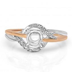 14K Two Tone diamond Engagement Ring