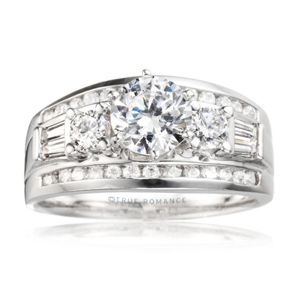 Rm426-14k White Gold Semi Mount Engagement Ring From Nostalgic Collection