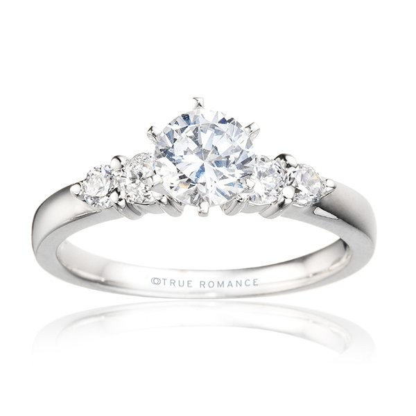 Rm495-14k White Gold Engagement Ring From Nostalgic Collection