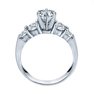 Rm504-14k White Gold Classic Semi Mount Engagement Ring