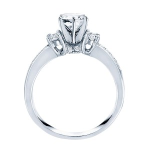 Rm576-14k White Gold Classic Semi Mount Engagement Ring