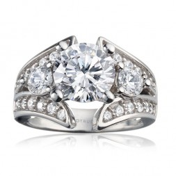 Rm920-14k White Gold Semi Mount Engagement Ring From Nostalgic Collection