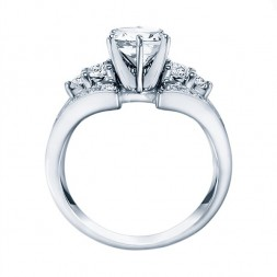 Rm921 -14k White Gold Classic Semi Mount Engagement Ring