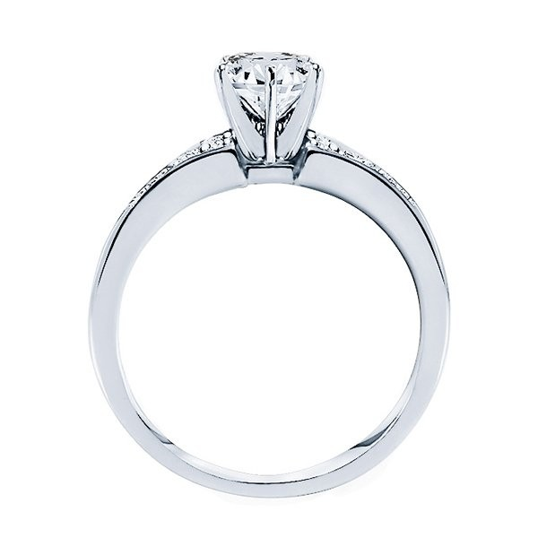Rm946-14k White Gold Classic Semi Mount Engagement Ring