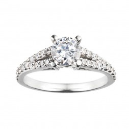 Rm966-14k White Gold Semi Mount Engagement Ring From Nostalgic Collection