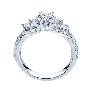 Rm985-14k White Gold Infinity Semi Mount Engagement Ring