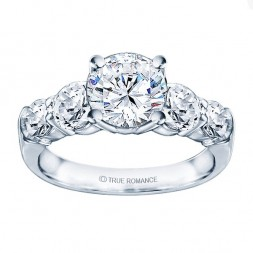 Rm993-14k White Gold Classic Engagement Ring