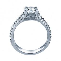 Rm999v-14k White Gold Classic Semi Mount Engagement Ring