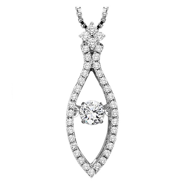 Rhythm of Love Diamond Pendent featuring 1/2 ctw diamonds in 14K Gold