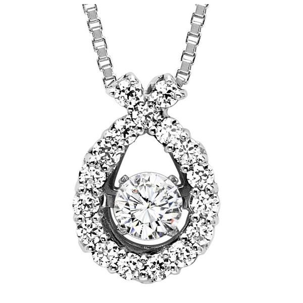 Rhythm of Love Diamond Pendent featuring 1/2 ctw diamonds in 14K Gold