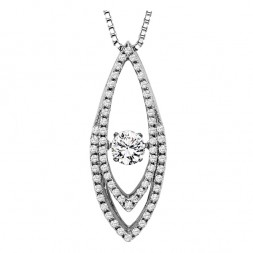 Rhythm of Love Diamond Pendent featuring 5/8 ctw diamonds in 14K Gold
