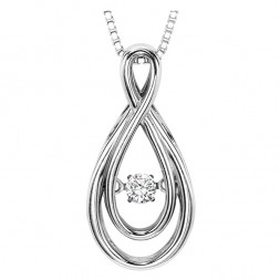 Rhythm of Love Diamond Pendent featuring 1/10 ctw diamonds in 14K Gold
