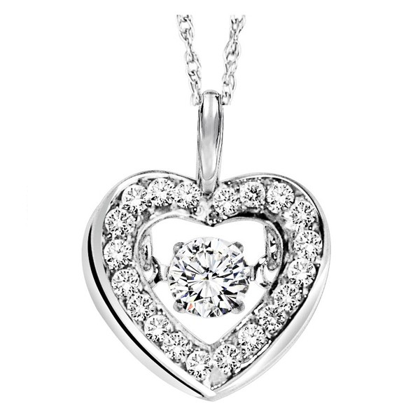 Rhythm of Love Diamond Pendent featuring 1/3 ctw diamonds in 14K Gold
