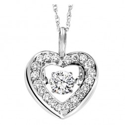 Rhythm of Love Diamond Pendent featuring 1/3 ctw diamonds in 14K Gold