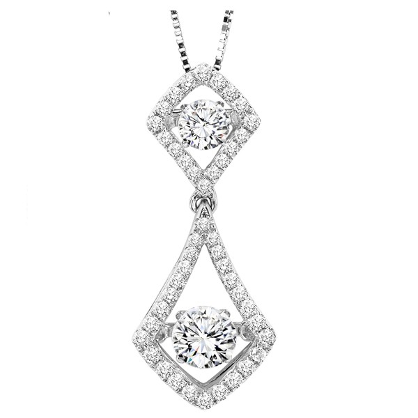 Rhythm of Love Diamond Pendent featuring 3/4 ctw diamonds in 14K Gold