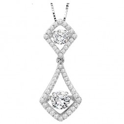 Rhythm of Love Diamond Pendent featuring 3/4 ctw diamonds in 14K Gold